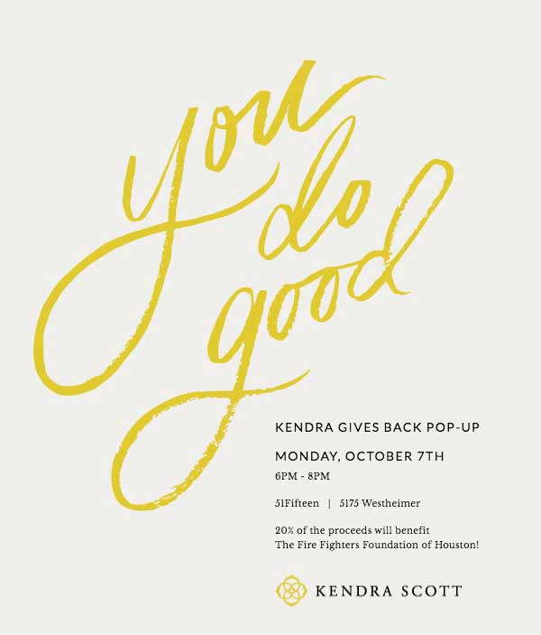Kendra Gives Back Pop-Up